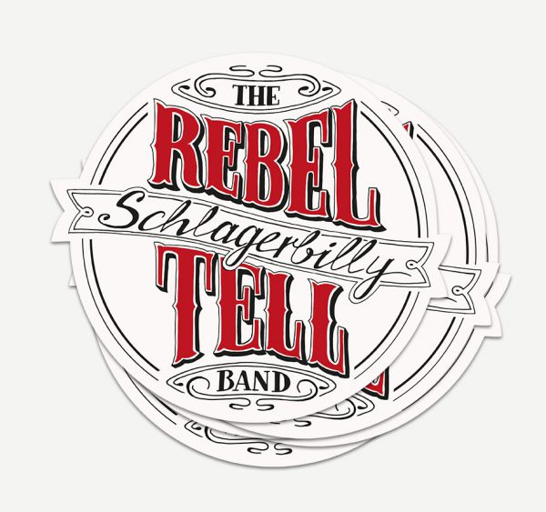Sticker der Rebel Tell Band